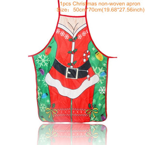 Christmas Decorations for Home 1Pcs Santa Claus Christmas Apron