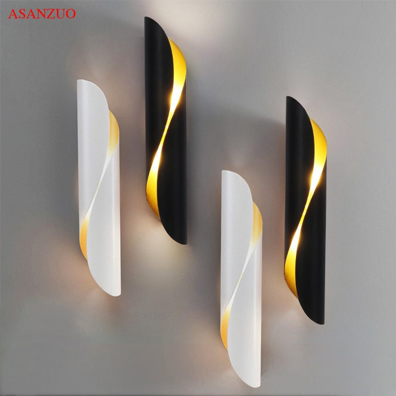 Modern Aluminum Tube Wall Light G9 Light Fixtures Gold Black Nordic