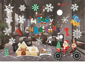 New Year Window Glass PVC Wall Sticker Christmas DIY Snow Town Wall Stickers Home Decal Christmas Decoration for Home Supplies