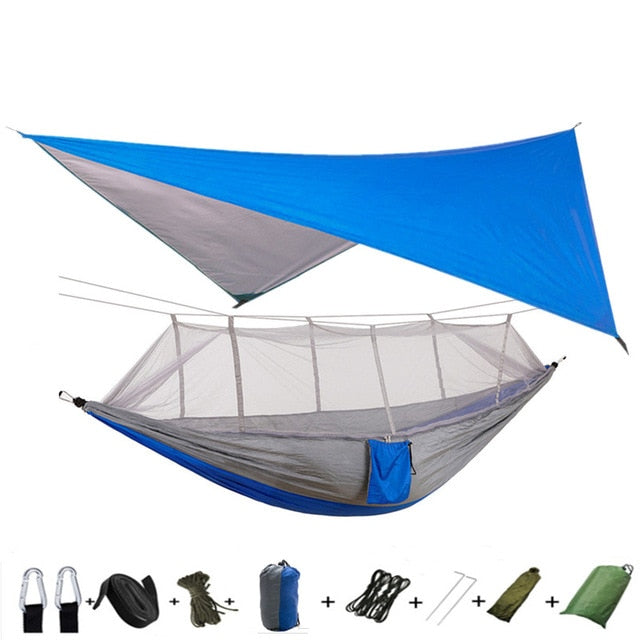 Lightweight Portable Camping Hammock and Tent Awning Waterproof Mosquito Net