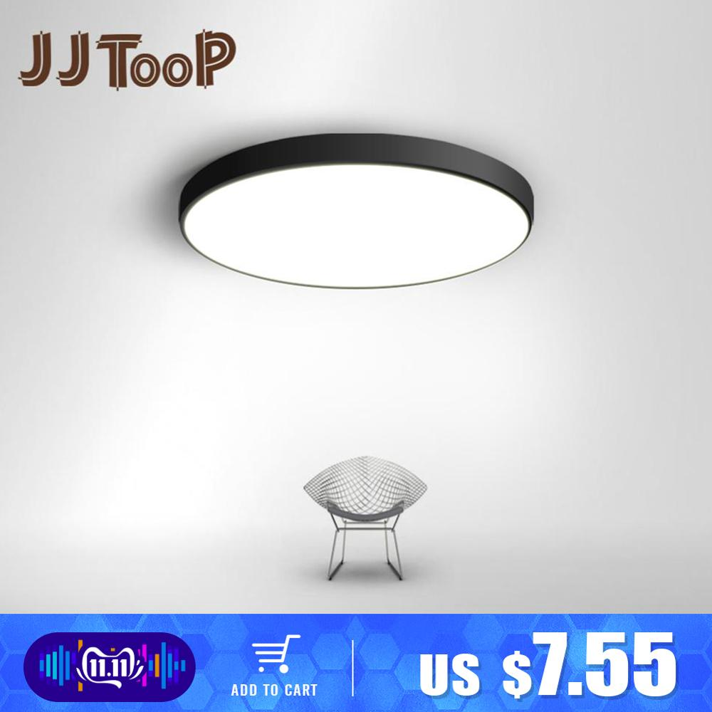LED Ceiling Light Ultra-thin 5CM LED Mordern Simple Lamp Black White Round Square for Living Room Bedroom Foyer Dinning Room