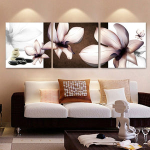 Abstract Flower Magnolia Canvas Painting Wall