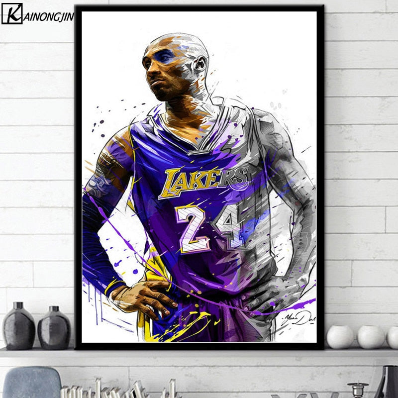 Art Poster Kobe Bryant No.24 Basketball Star