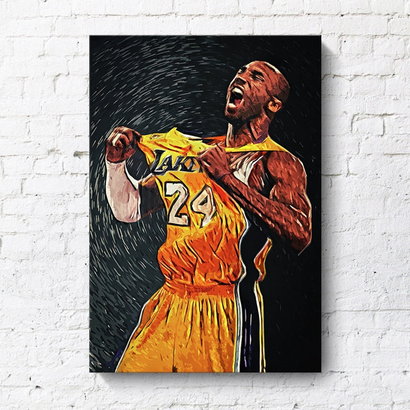 Kobe Bryant Poster Basketball Modern Simple Living Room