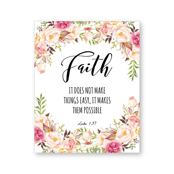 Posters and Prints Bible Verse Canvas Painting Poster Christian Wall Art Inspirational Quote Pictures for Living Room Home Decor