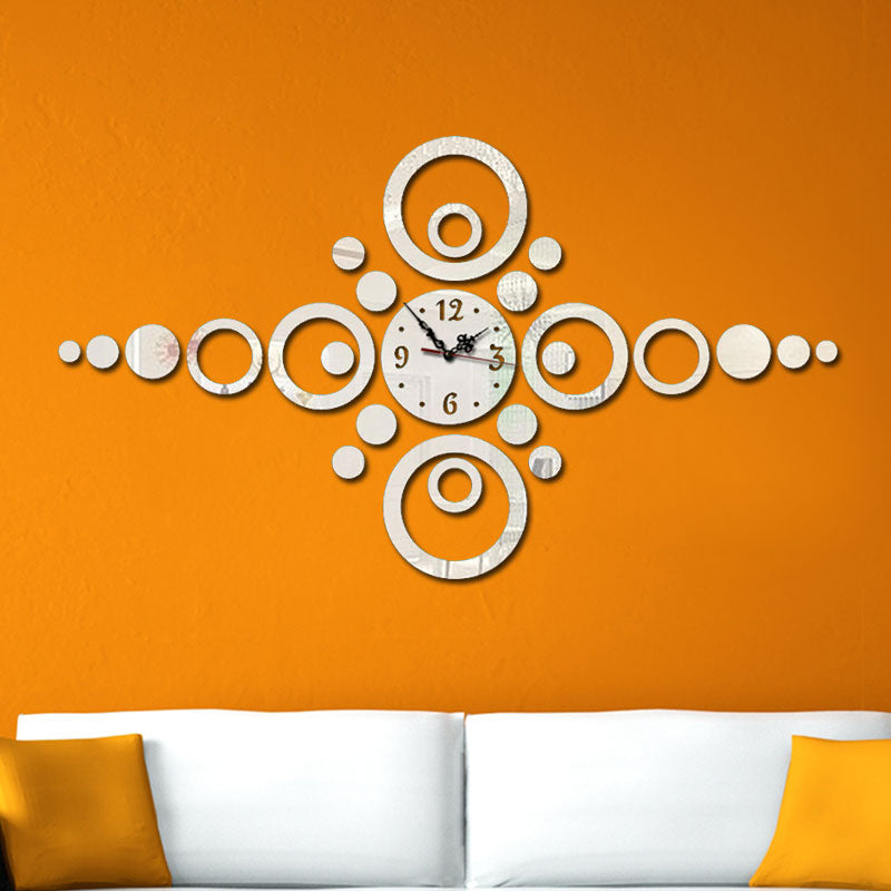 DIY Wall Clock 3D Round Wall Stickers Mural Clock Modern Design Picture Clock Fairy DIY Creative Home Fashion Kitchen Clock F