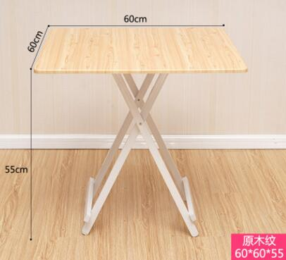 60*60*55CM Portable Outdoor Picnic Table Folding Square Negotiating Table Modern Dining Table Coffee Bar Table