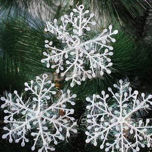 30PCS/Lot 11cm White Plastic Christmas Ornaments