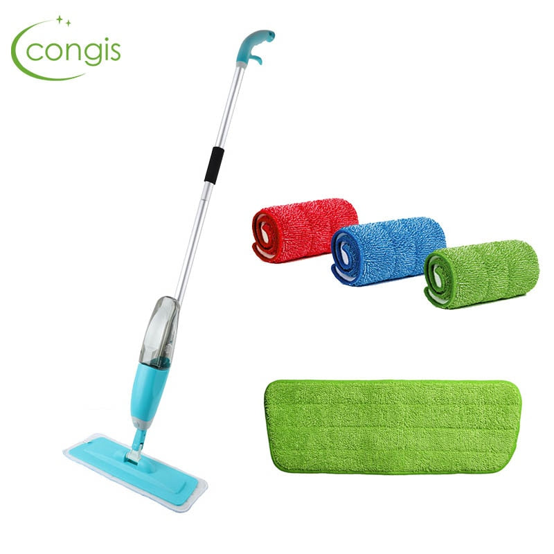 Congis Spray Mop +3 PCS Cleaning Cloth Head Combination