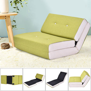Giantex Modern Convertible Split-Back Linen Futon Sofa Bed Couch Recliner Sleeper 5 Position