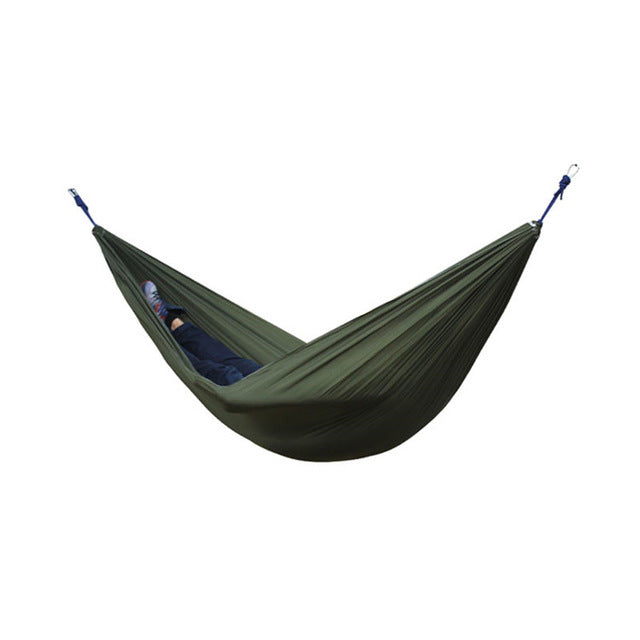 Adult Single Double Hammock  Outdoor Backpacking Travel Survival Hunting Sleeping Bed