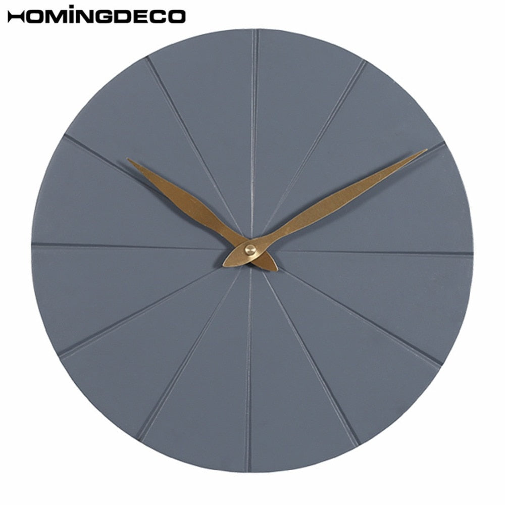 Homingdeco12 Inch Nordic Style Creative Mute Wall Clock