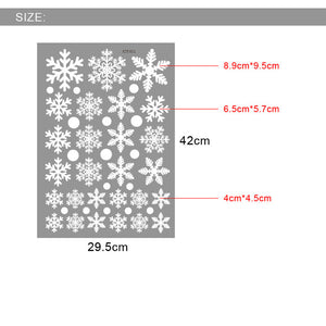 Christmas Decoration Snowflake New Year Party Decoration Santa Decoration Window Cartoon Background Decorative Glass Sticker