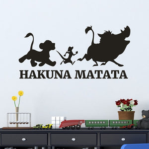 The Lion King Saying: Hakuna Matata No Worry Quote Wall Decals Decorative Home Declas/Removable Vinyl Wall Art Stickers 18OCT