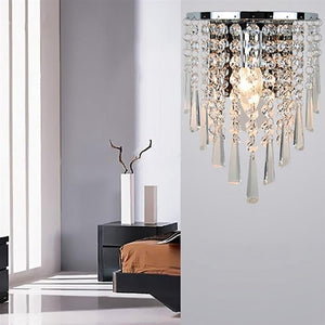 Modern Crystal Wall Lamp Chrome Sconce Wall Light For Living Room Bathroom Home Indoor Lighting Decoration Bulb Not Included
