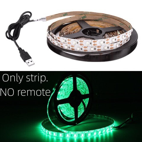 USB LED Strip DC 5V 50CM 1M 2M 3M 4M 5M Mini 3Key 24Key Flexible Light Lamp SMD 2835 Desk Decor Screen TV Background Lighting