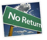 Sign saying no return showing that you can't return a WJ Southard Natural Latex Mattress