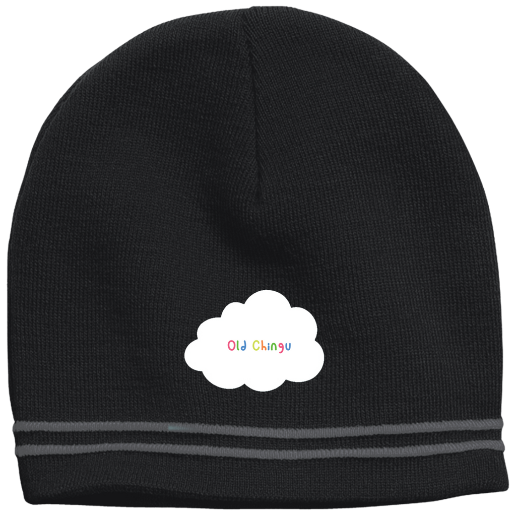 Cloudy Chingu (striped) beanie