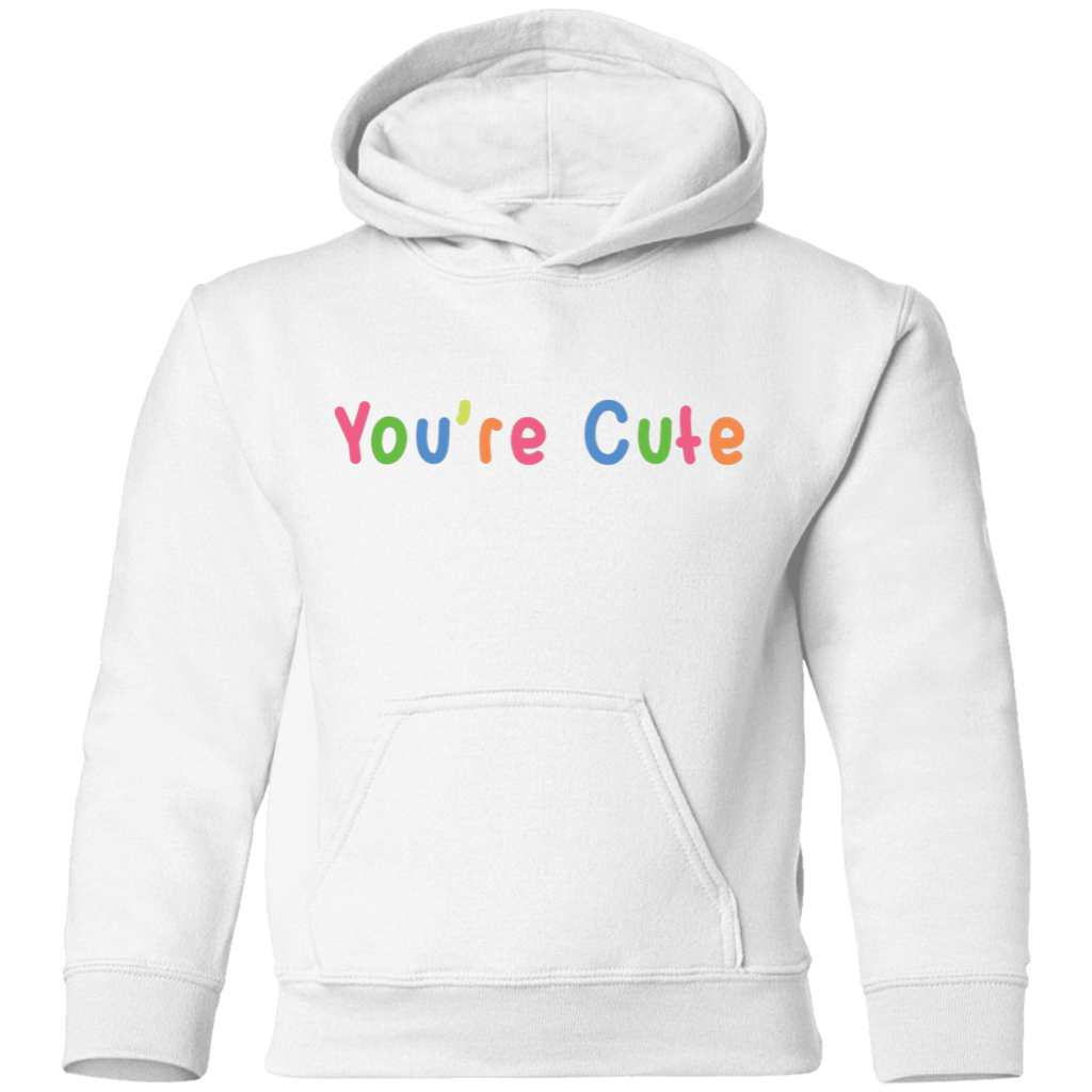 "Precious Cargo Toddler Pullover Hoodie ""You're Cute"""