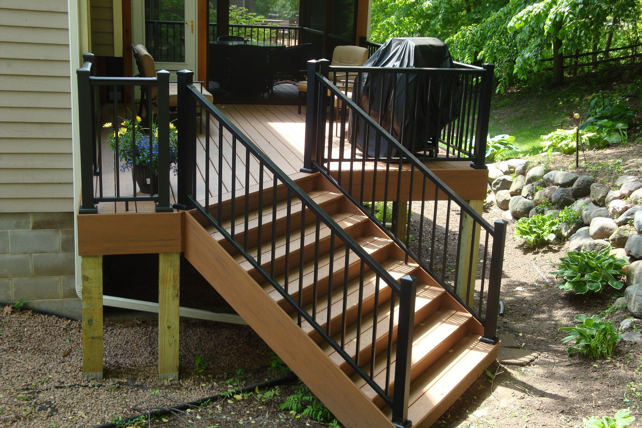 Awesome ... Aluminum Railing Kit Series 100 Adjustable Stair Rail   Aluminum  Railings   Worthington Millwork ...