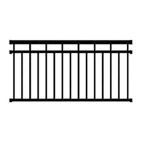 Aluminum Railing Kit Series 125 - Style A Level Rail - Aluminum Railings - Worthington Millwork