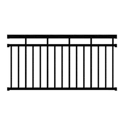 Aluminum Railing Kit Series 125 - Style B Level Rail - Aluminum Railings - Worthington Millwork