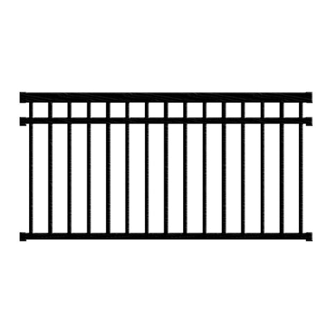 Aluminum Railing Kit Series 125 - Style D Level Rail - Aluminum Railings - Worthington Millwork