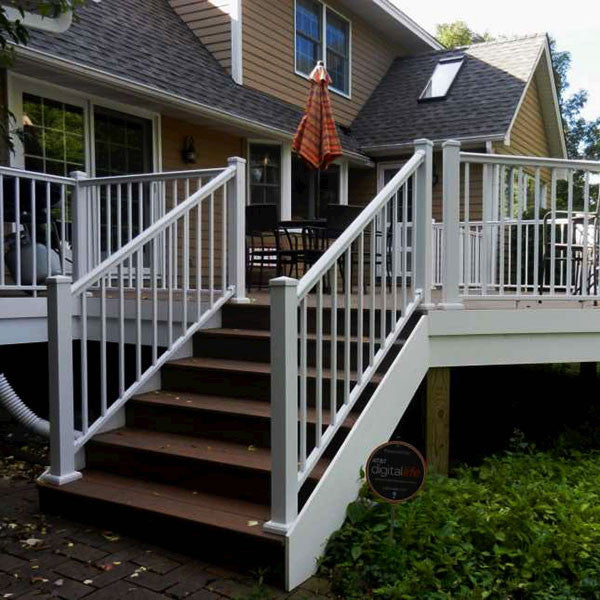 Aluminum railing kit series adjustable stair rail