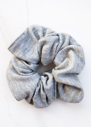 Organic Bamboo Heather Grey Knit Scunchie