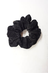 Holiday Black Textured Velvet Scrunchie 2020