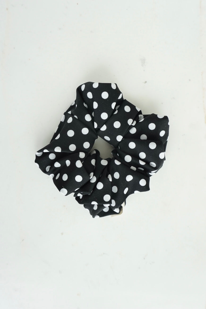 Swimmer Black and White Polka Dot