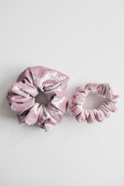 Holiday Velvet  Scrunchie - Pink