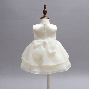Baby Girls White Baptism Dress Birthday Christening Gown Dress