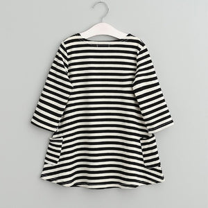 Girls Striped Shift Dress