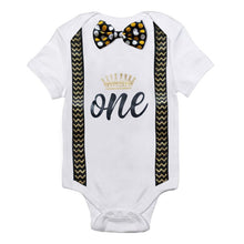 Load image into Gallery viewer, Baby Boy Romper Toddler Boys Clothes Kids Jumpsuit 1st Birthday Rompers Infant Clothing Playsuits One Year Boy Casual Overalls