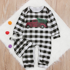 Baby Romper Jumpsuit Long Sleeve White Black Lattice Newborn Baby Clothes Boy Girls Fashion Style Infant Rompers