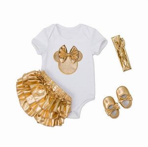 Infant Girls Clothing Set Newborn Baby Ears Bodysuits Christmas Wear Fashion Outfits Toddlers Clothing
