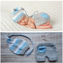 Load image into Gallery viewer, Newborn Photography Props Crochet Knit Costume Prop Outfits Baby Hat Photo Props Newborn Outfits