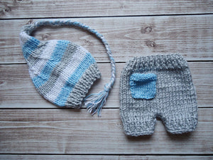 Newborn Photography Props Crochet Knit Costume Prop Outfits Baby Hat Photo Props Newborn Outfits