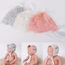 Load image into Gallery viewer, Baby Lace Bonnet Photography Prop Accessories