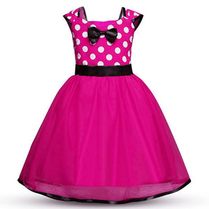 Minnie Mouse Fancy Dress Up Polka Dot Tutu Dress Headband Party Birthday Dress Outfit