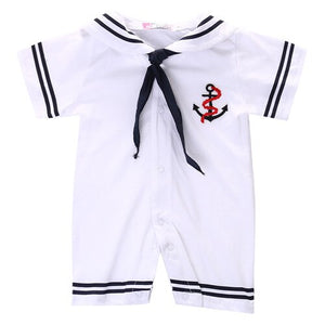 2016 Baby Boy Infant Anchor Sailor Romper Jumpsuit Clothes 4-18Months