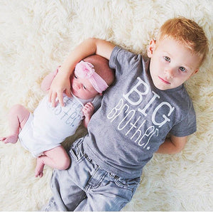 Baby Kids Big Brother Little Sister Cotton Bodysuit T-shirts, Matching Outfits