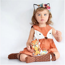 Load image into Gallery viewer, Cute Sleeveless Baby Girls Toddler Kids Fox Dress New Fashion Baby Girl Party Wedding Dresses 1-5T