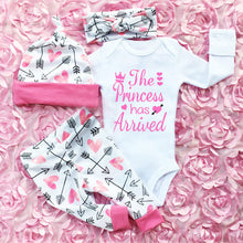 Load image into Gallery viewer, 3PC Baby Girls Clothes Romper Pants Outfit Set