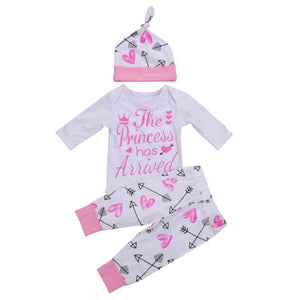 3PC Baby Girls Clothes Romper Pants Outfit Set