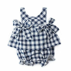 Baby Girls Plaids Summer Tops Dress Pants Shorts Outfit Set Clothes