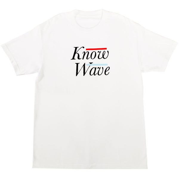 Know-Wave Serif Tee White