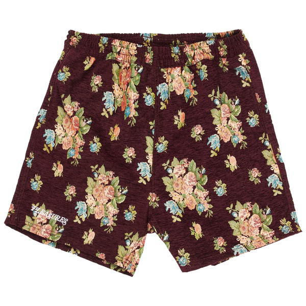 Pleasures Dejavu Woven Floral Short Maroon
