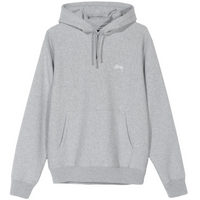 Stussy Stock Logo Hood Grey Heather